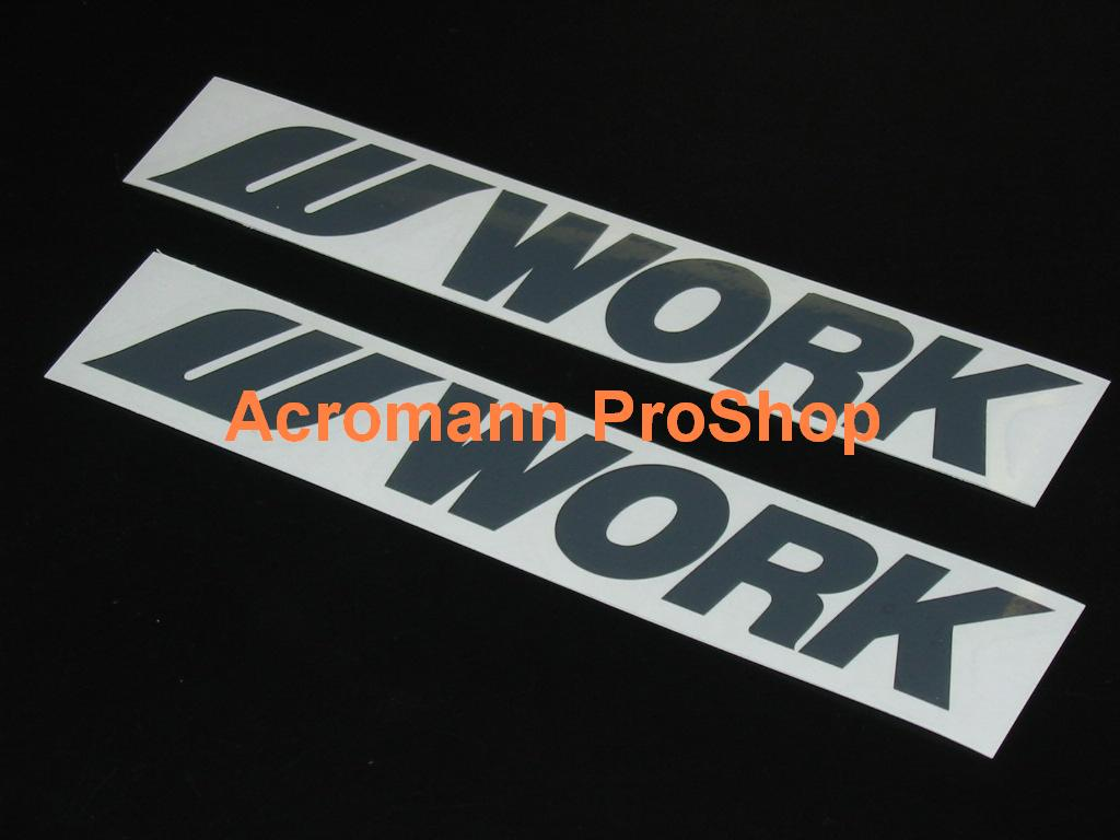 WORK Wheels 6inch Decal (Style#1) x 2 pcs